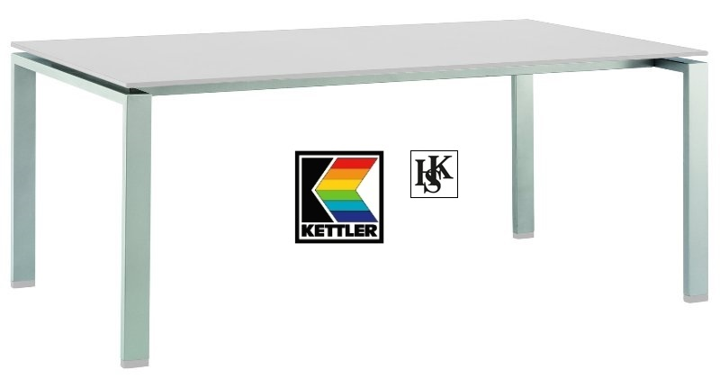 kettler hks keramik lofttisch tisch rasmus silber weiss hpl lofttisch frei haus. Black Bedroom Furniture Sets. Home Design Ideas