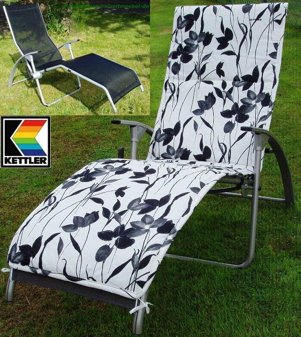 kettler hks b derliege tampa silber schwarz b derliegenauflage frei haus ebay. Black Bedroom Furniture Sets. Home Design Ideas