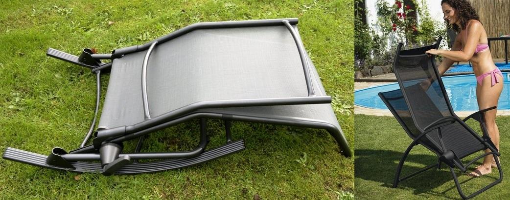 kettler hks alu b derliege tampa silber schwarz 01717 040 doppelpack 2 st ck. Black Bedroom Furniture Sets. Home Design Ideas