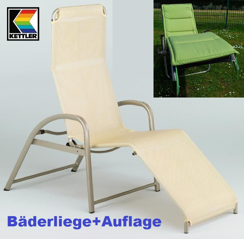kettler b derliege saunaliege objektgeeignet 01720 200 b derliegenauflage gr n ebay. Black Bedroom Furniture Sets. Home Design Ideas