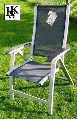 kettler hks multipositionssessel sessel forma silber grau auflage frei haus. Black Bedroom Furniture Sets. Home Design Ideas