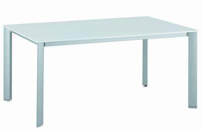 kettler hks alu kettalux plus lofttisch tisch rasmus silber weiss frei haus ebay. Black Bedroom Furniture Sets. Home Design Ideas