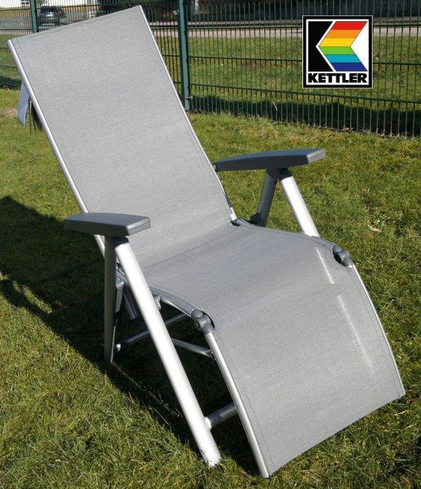 kettler alu relaxliege relaxsessel relaxer cirrus silber grau 2 wahl frei haus ebay. Black Bedroom Furniture Sets. Home Design Ideas