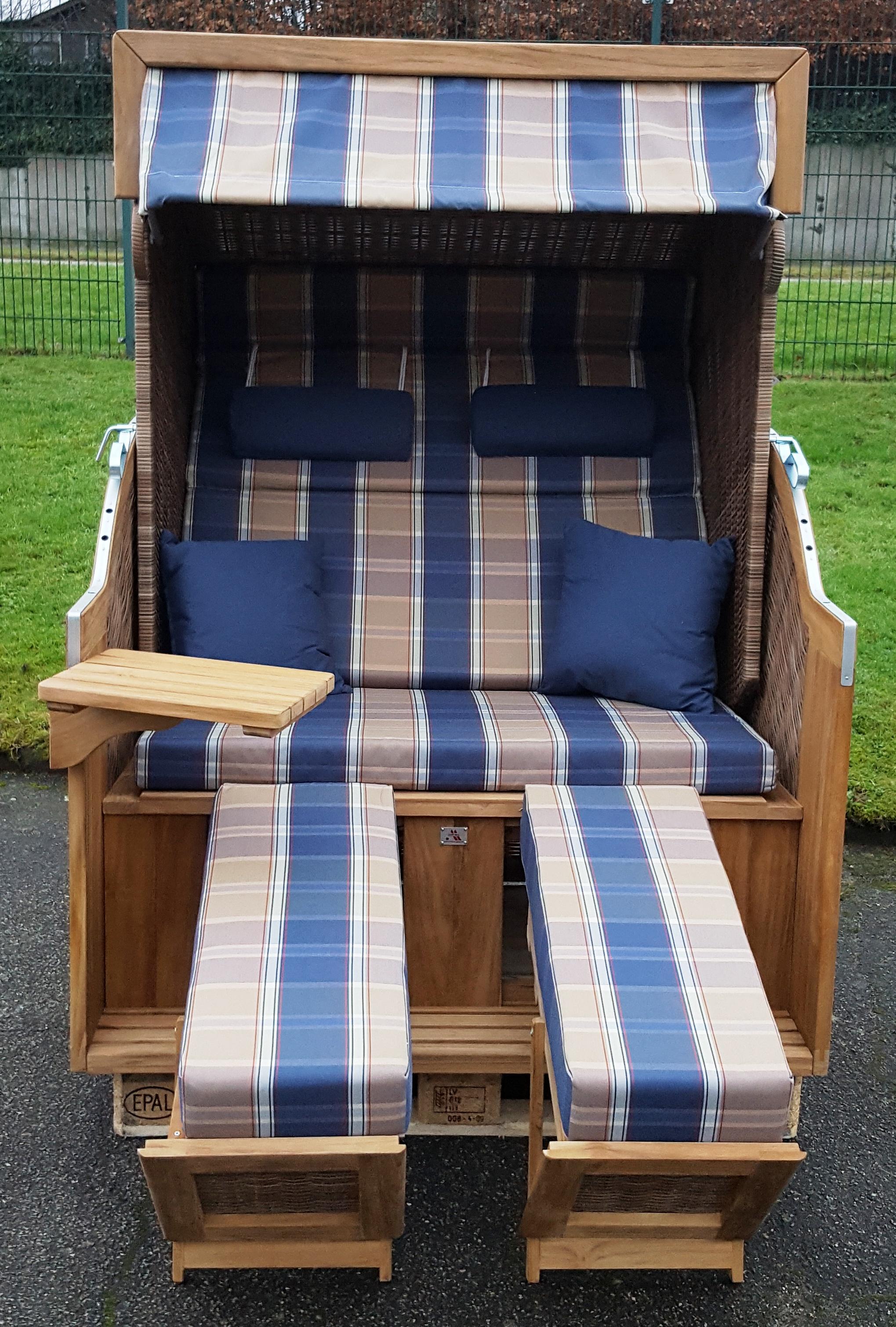 devries teak strandkorb pure comfort xl griseum 428 montiert. Black Bedroom Furniture Sets. Home Design Ideas