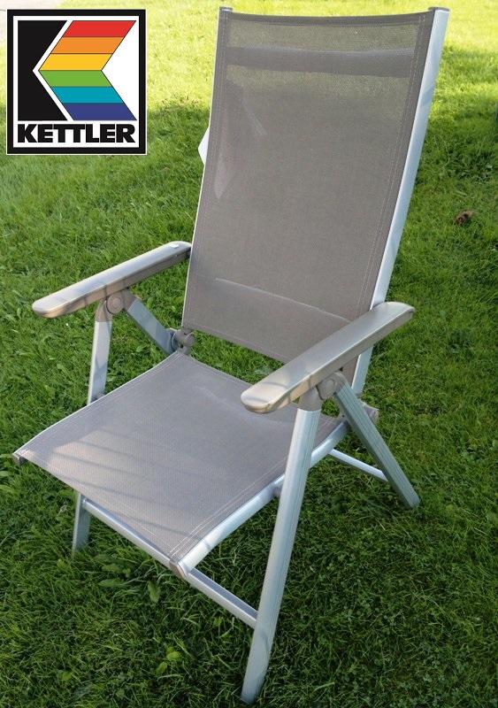 kettler sessel klappsessel family multipositionssessel silber taupe frei haus. Black Bedroom Furniture Sets. Home Design Ideas