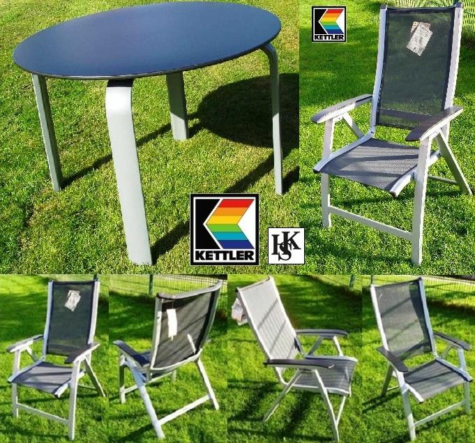 kettler hks gartenm bel set forma silber sessel tisch. Black Bedroom Furniture Sets. Home Design Ideas