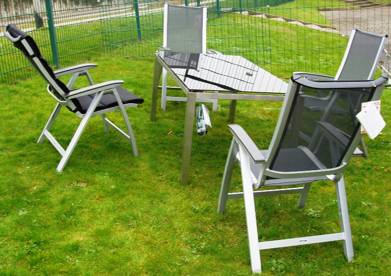 kettler gartenm bel edelstahl glas tisch avanti forma sessel auflagen frei haus ebay. Black Bedroom Furniture Sets. Home Design Ideas