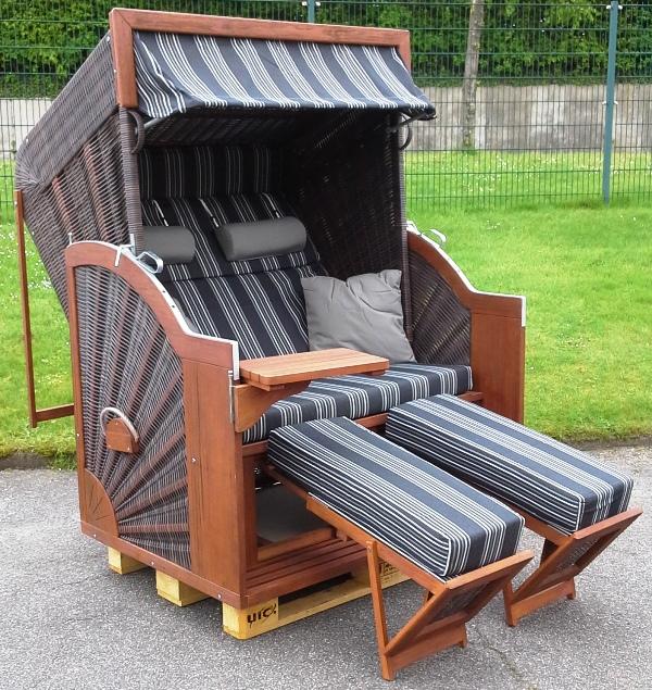 devries strandkorb comfort xl pure java mocca dessin 423 zubeh r montiert neu. Black Bedroom Furniture Sets. Home Design Ideas