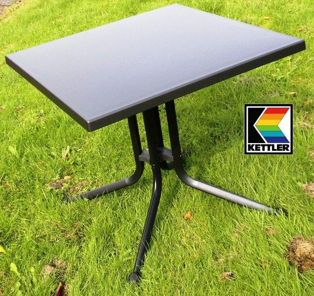 kettler alu klapptisch beistelltisch tisch 80x80 cm grau. Black Bedroom Furniture Sets. Home Design Ideas