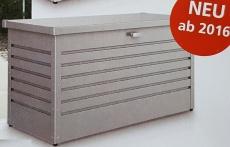 FREIZEITBOX KISSENTRUHE BOX UNIVERSALBOX QUARZGRAU 130 montiert