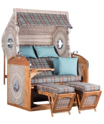 devries pure teak strandkorb sailor xl seashell stoff130 zubeh r. Black Bedroom Furniture Sets. Home Design Ideas