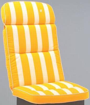 kettler hks auflagen sitzkissen dessin 586 gelb streifen. Black Bedroom Furniture Sets. Home Design Ideas