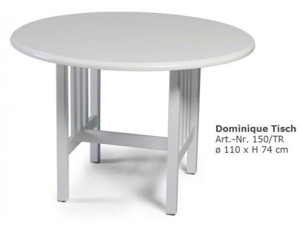 herrenhaus gartenm bel tisch dominique weiss rund. Black Bedroom Furniture Sets. Home Design Ideas