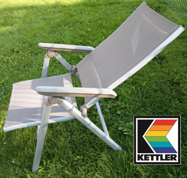 KETTLER MULTIPOSITIONSSESSEL FAMILY SILBER-TAUPE