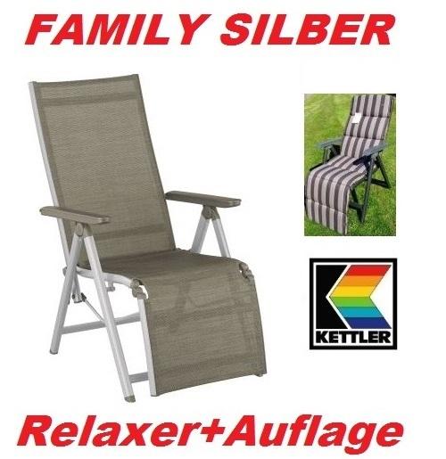 KETTLER RELAXSESSEL RELAXLIEGE FAMILY MIT AUFLAGE 466