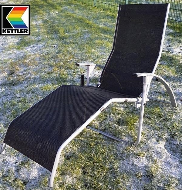 kettler hks tampa b derliege hks auflage grau gr n. Black Bedroom Furniture Sets. Home Design Ideas