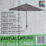 KETTLER KURBELSCHIRM EASY ALLROUND 300 cm rund anthrazit/taupe
