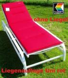 KETTLER BASIC LIEGENAUFLAGE DESSIN 8578 UNI ROT
