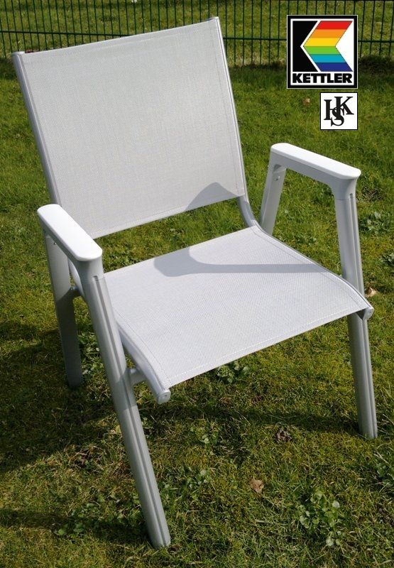 kettler hks stapelsessel sessel scirocco silber weiss grau frei haus g nstig top ebay. Black Bedroom Furniture Sets. Home Design Ideas